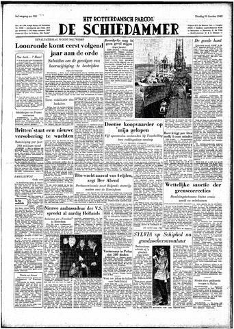 Rotterdamsch Parool / De Schiedammer 1949-10-25