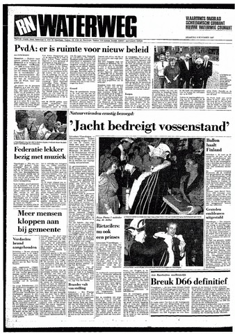 Rotterdamsch Nieuwsblad / Schiedamsche Courant / Rotterdams Dagblad / Waterweg / Algemeen Dagblad 1987-11-09