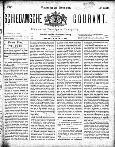 Schiedamsche Courant 1885-10-26