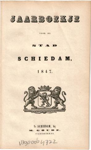 Schiedams Jaarboek 1847-01-01