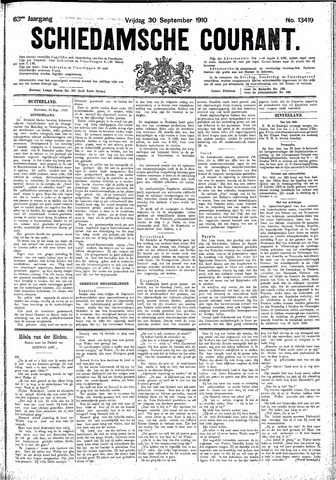 Schiedamsche Courant 1910-09-30