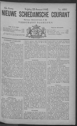 Nieuwe Schiedamsche Courant 1892-01-22