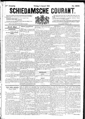 Schiedamsche Courant 1912-01-05