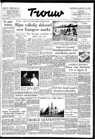 Trouw / De Rotterdammer 1957-02-05
