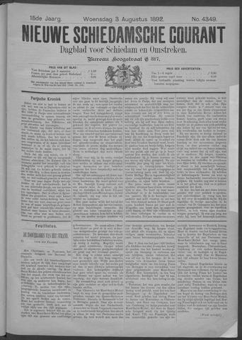 Nieuwe Schiedamsche Courant 1892-08-03