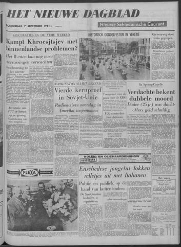 Nieuwe Schiedamsche Courant 1961-09-07