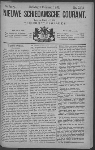 Nieuwe Schiedamsche Courant 1886-02-09