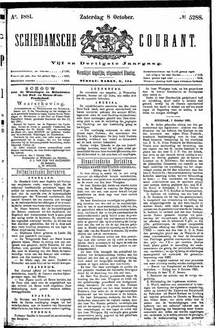 Schiedamsche Courant 1881-10-08