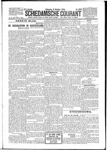 Schiedamsche Courant 1931-10-03