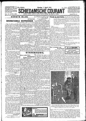 Schiedamsche Courant 1931-04-07