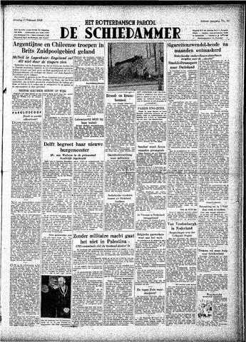 Rotterdamsch Parool / De Schiedammer 1948-02-17