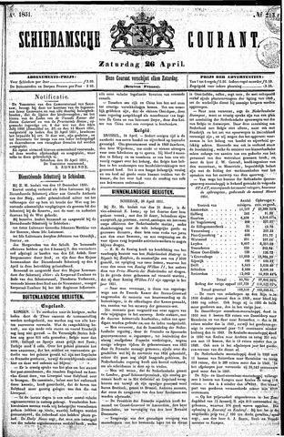 Schiedamsche Courant 1851-04-26