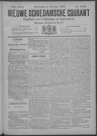 Nieuwe Schiedamsche Courant 1892-10-05