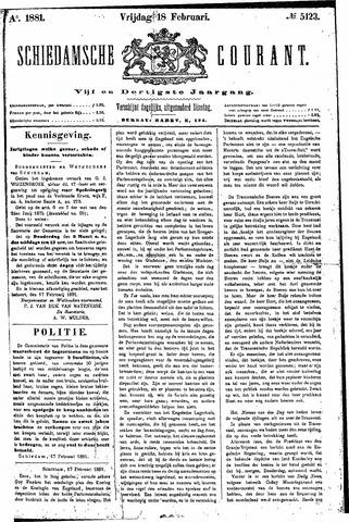 Schiedamsche Courant 1881-02-18