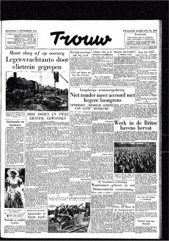 Trouw / De Rotterdammer 1954-11-01