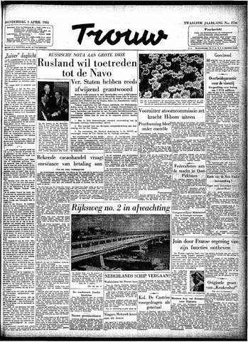 Trouw / De Rotterdammer 1954-04-01