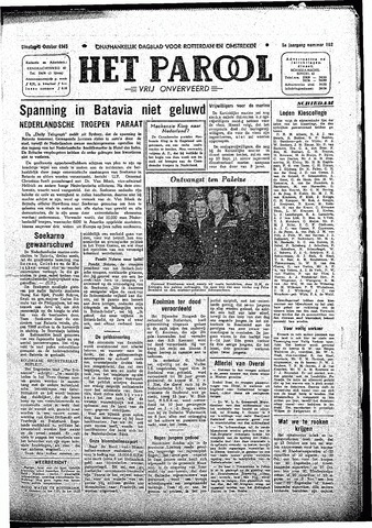 Rotterdamsch Parool / De Schiedammer 1945-10-09