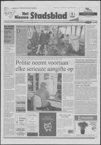 Het Nieuwe Stadsblad 2001-10-31