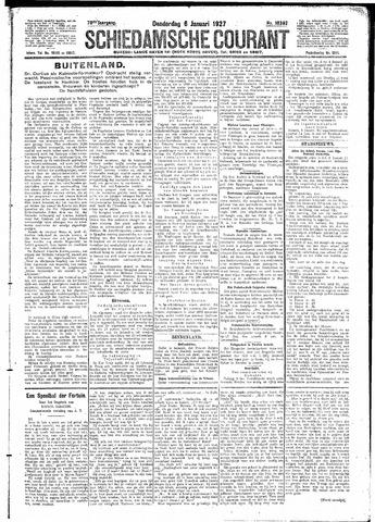 Schiedamsche Courant 1927-01-06