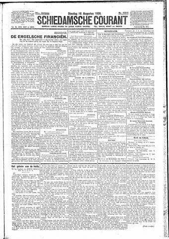 Schiedamsche Courant 1931-08-18
