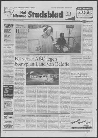 Het Nieuwe Stadsblad 2001-01-24