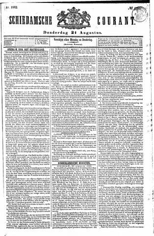 Schiedamsche Courant 1862-08-21