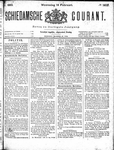 Schiedamsche Courant 1883-02-14
