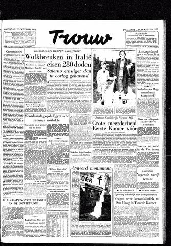 Trouw / De Rotterdammer 1954-10-27