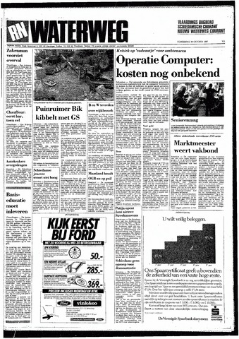 Rotterdamsch Nieuwsblad / Schiedamsche Courant / Rotterdams Dagblad / Waterweg / Algemeen Dagblad 1987-10-29
