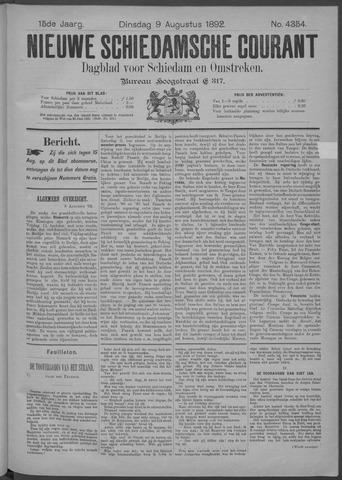 Nieuwe Schiedamsche Courant 1892-08-09