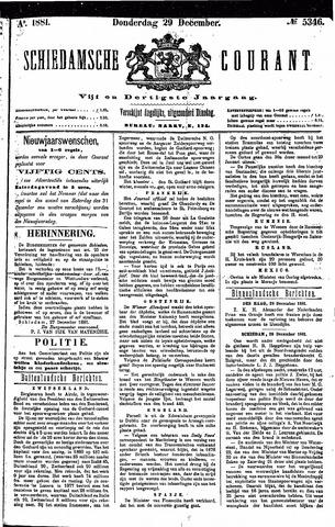 Schiedamsche Courant 1881-12-29