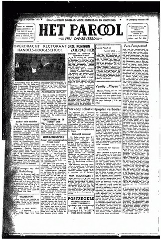 Rotterdamsch Parool / De Schiedammer 1945-09-20