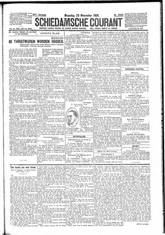 Schiedamsche Courant 1931-11-23