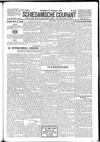 Schiedamsche Courant 1931-12-24