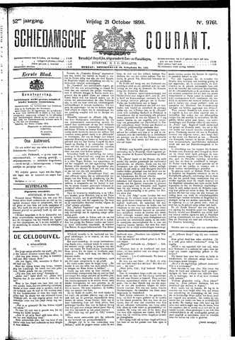 Schiedamsche Courant 1898-10-21