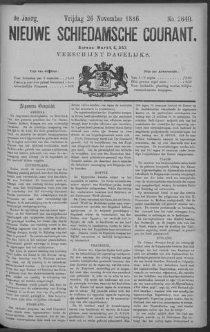 Nieuwe Schiedamsche Courant 1886-11-26