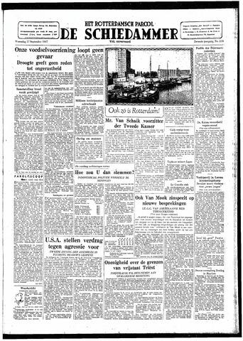 Rotterdamsch Parool / De Schiedammer 1947-09-17
