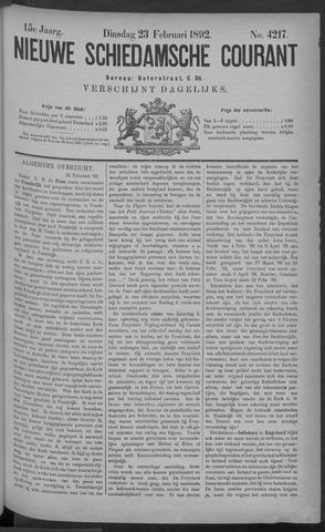 Nieuwe Schiedamsche Courant 1892-02-23