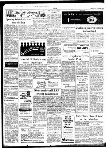Bankstellen In Schiedam.Trouw De Rotterdammer 17 December 1960 Pagina 2