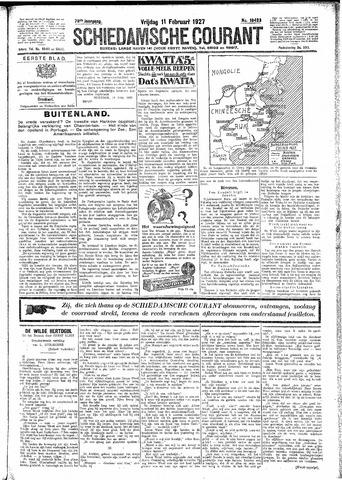 Schiedamsche Courant 1927-02-11
