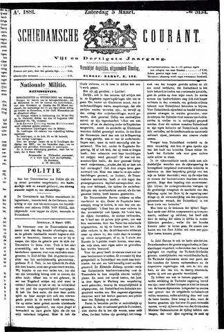 Schiedamsche Courant 1881-03-05