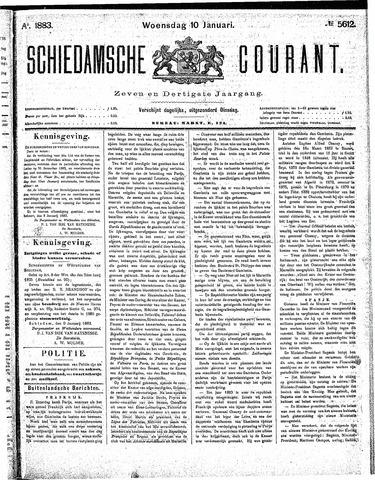 Schiedamsche Courant 1883-01-10