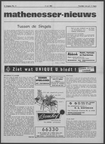 Mathenesser Nieuws 1963-07-18