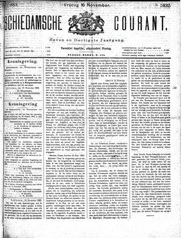 Schiedamsche Courant 1883-11-16
