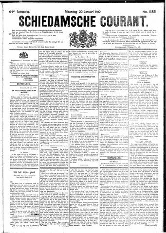 Schiedamsche Courant 1912-01-22