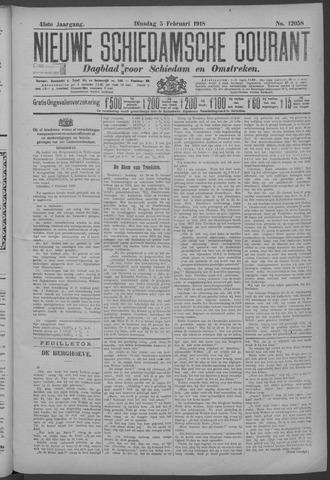 Nieuwe Schiedamsche Courant 1918-02-05