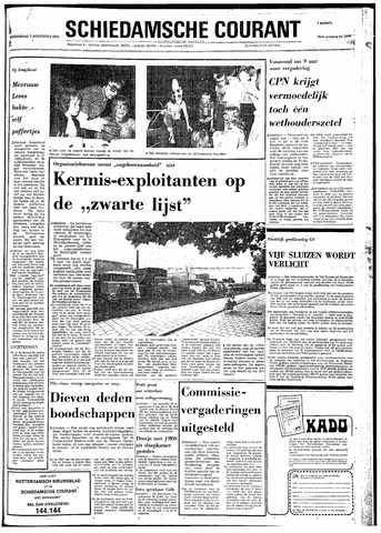 Rotterdamsch Nieuwsblad / Schiedamsche Courant / Rotterdams Dagblad / Waterweg / Algemeen Dagblad 1974-08-07