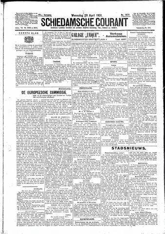 Schiedamsche Courant 1931-04-29