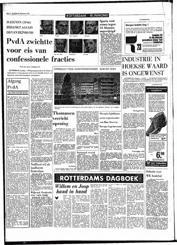 Rotterdamsch Parool / De Schiedammer 1970-09-29
