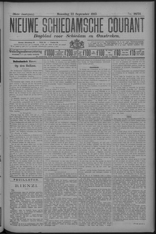 Nieuwe Schiedamsche Courant 1913-09-22